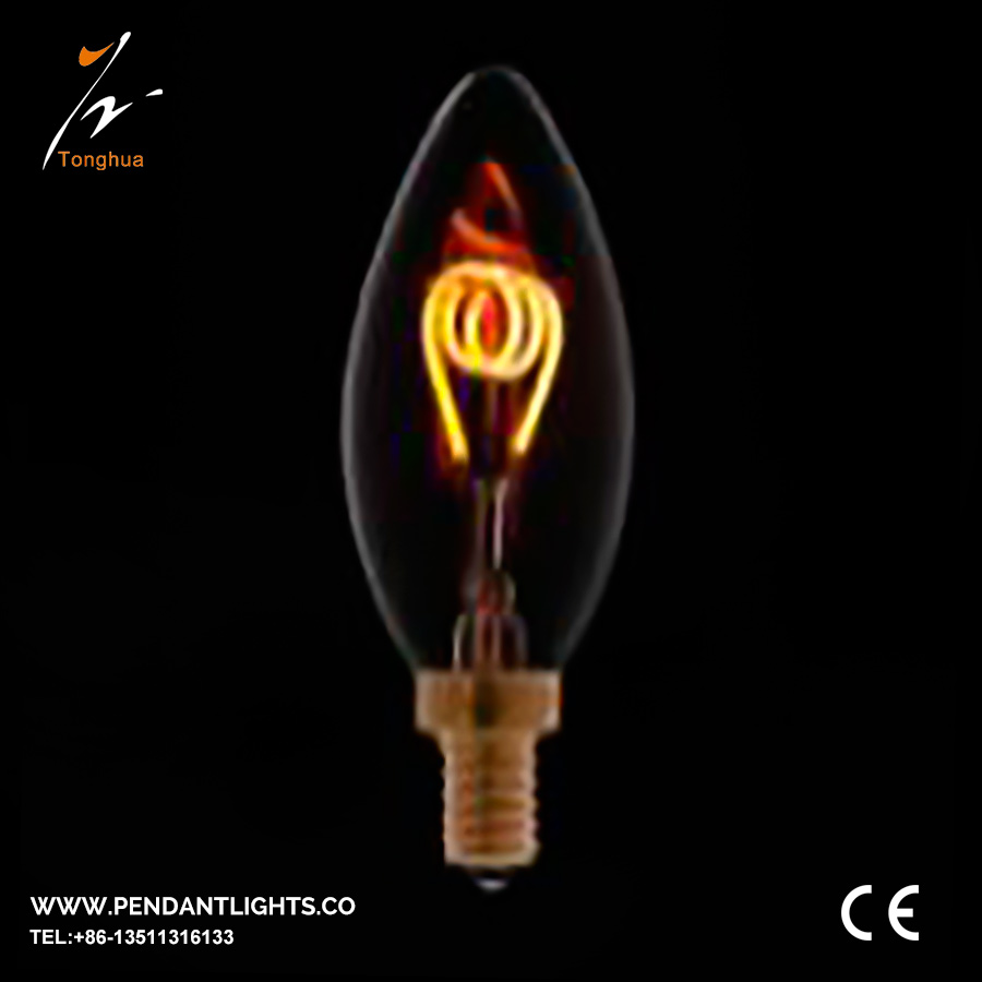Soft LED Filament Bulb C35